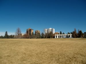 The wide open lawns of Cheesman Park are perfect for flying a kite or throwing a frisbee!