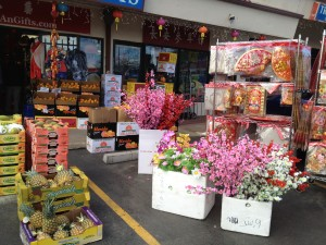 Chinese New Year items outside Troung An Gifts. The year of the Snake begins February 10th, 2013!