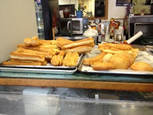 Tasty fried breads at Vinh Xuong Bakery