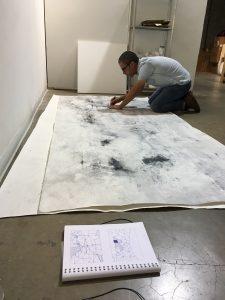 Artist-in-residence, Ramon Bonilla.