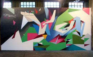 "An example of Graffuturism by German-born artist Till Heim, who also goes by the name ""Sign"""