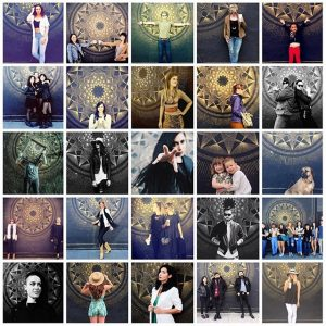 A sampling of photos people have taken in front of Gemma's mural at Crema.