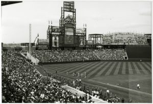 Opening Day at Coors Field. Image courtesy Stephen H. Hart Library & Research Center.