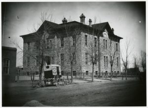 The 24th Street School (24th & Market) circa 1870-1890. Image courtesy Stephen H. Hart Library & Research Center, History Colorado.