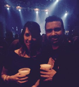 Tim Vargo and girlfriend Amber at a Gogol Bordello show at The Ogden. Image Courtesy Tim Vargo