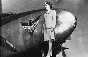 A stewardess circa 1945. Image courtesy Stephen H. Hart Library & Research Center, History Colorado.