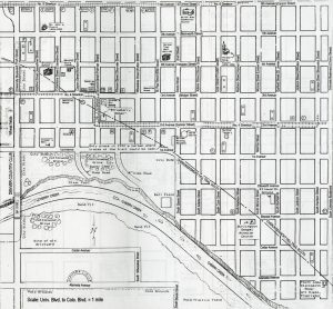 "A map of the Harman Town area as it was in 1930. Image: ""Harman and Its People: Project of the Harman Neighborhood Reunion Group,"" compiled by Henry Johns, 1992"