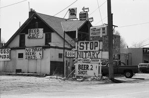 Ian's Corner Tavern in Globeville, 1983. Image courtesy Stephen H. Hart Library & Research Center, History Colorado.