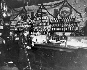 L. G. Reinhard's Saloon circa 1901. Image courtesy Stephen H. Hart Library & Research Center, History Colorado.
