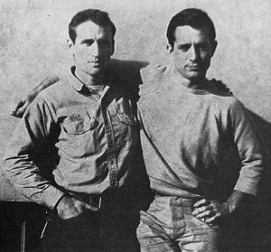 Neal Cassady and Jack Kerouac in 1952. Image: Wikimedia