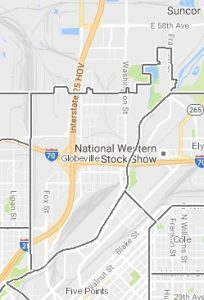 Globeville is roughly bounded by Inca St., 52nd Ave., Franklin St. and the South Platte River,