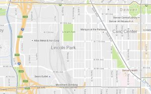 Lincoln Park is bounded by Broadway, 6th Ave., the Platte River and Colfax Ave.