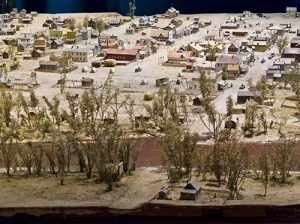 Detail of a diorama depicting Denver as it looked in 1860. This diorama can be seen for free in the lobby of the History Colorado Center. Image courtesy Stephen H. Hart Library & Research Center, History Colorado